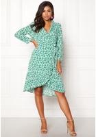 Object Holly Bay S/s Wrap Dress Oatmeal 40
