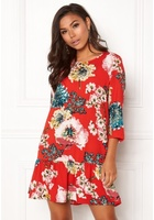 Only Katehrine Parki 3/4 Dress Flame Scarlet 34