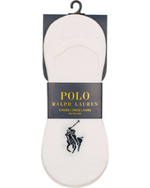 Polo Ralph Lauren 3-pack No Show Big Pony Pony Socks White