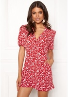 New Look Mi Ditsy Playsuit Red Pattern S (uk10)
