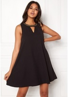 Vero Moda June Bead Sl Short Dress Black Xs