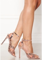 New Look Squaw Pu Strappy Sandal Gunmetal 39 (uk6)