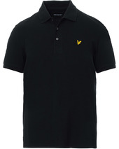 Lyle & Scott Plain Pique Polo Shirt Jet Black