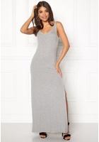 Vila Deana S/l Maxi Dress Light Grey Melange L