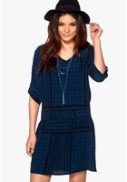 Soaked In Luxury Evy Dress Blue/black Xs