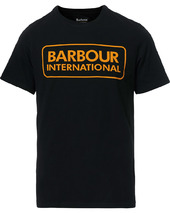 Barbour International Large Logo Crew Neck Tee Black