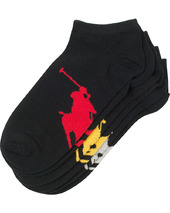 Polo Ralph Lauren 3-pack Big Pony Sneaker Sock Black