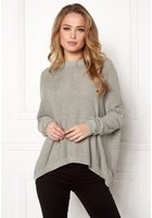 Object Darren L/s Knit Pullover Light Grey Melange S