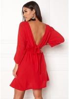 Bubbleroom Faviola Reversible Dress Red 38