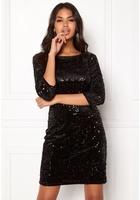 Vila Glitz 3/4 Sleeve Dress Black M