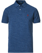 Polo Ralph Lauren Custom Slim Fit Polo Classic Royal Heather