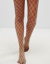 Asos Design Oversized Fishnet Tights-black