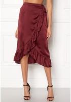 Vero Moda Henna Shine Wrap Skirt Cabernet Xl