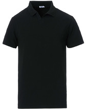 Filippa K Soft Lycra Polo T-shirt Black
