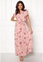 Vila Saffa Nandi S/s Maxi Dress Adobe Rose 42