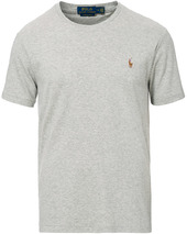 Polo Ralph Lauren Luxury Pima Cotton Crew Neck Tee Andover Heather