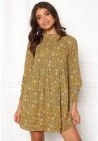 Jacqueline De Yong Base New L/s Smock Dress Spicy Mustard 40