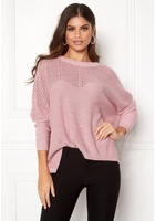 Object Darren L/s Knit Pullover Pink Nectar Xs