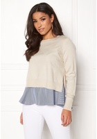 Only Latisha L/s Mix Pullover Pumice Stone Xs