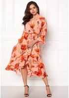 Y.a.s Cacco Wrap Dress Rose Smoke Xs