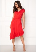 Vero Moda Gloria Capsleeve Dress Poppy Red Xs