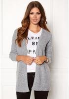 Object Nonsia Rib Knit Cardigan Light Grey Melange Xs