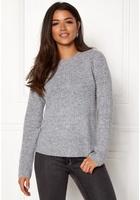 Object Nonsia Rib Knit Pullover Light Grey Melange M