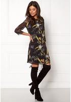 Only Katrine Dress L/s Black/flower S
