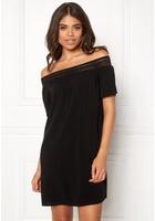 Jacqueline De Yong Fame Offshoulder Ss Dress Black 40