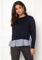 Only Latisha L/s Mix Pullover Night Sky S