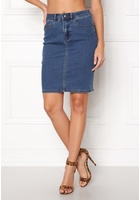 Vero Moda Hot Nine Pencil Skirt Medium Blue Denim Xs