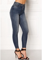 Only Posh Hw Cropped Jeans Dark Blue Denim 25/32