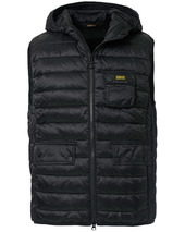 Barbour International Ousten Hooded Gilet Black