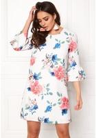 Only Kenni Flower 3/4 Dress Cloud Dancer Flower M