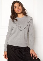 Vero Moda Sweet Frill L/s Sweat Light Grey Melange M