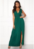 Dry Lake Callie Long Dress Dark Green S