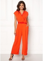 Y.a.s Mamba S/s Jumpsuit Orange.com Xs