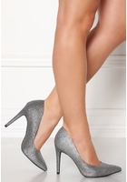 New Look Yummy Glitter Heel Silver 40 (uk7)