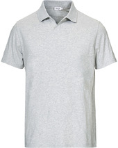 Filippa K Soft Lycra Polo T-shirt Light Grey Melange