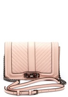Rebecca Minkoff Chevron Quilted Small Bag Soft Blush One Size