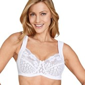 Miss Mary Jacquard And Lace Underwire Bra