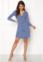 Happy Holly Millie Wrap Dress Blue / Offwhite 36/38s