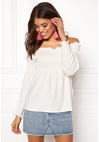 Pieces Gurli Ls Offshoulder Top Cloud Dance Xl