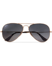 Ray-ban 0rb3025 Aviator Sunglasses Gold/grey