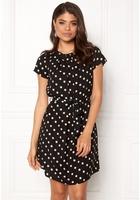 Vero Moda Nelli S/s Short Dress Black White Dots Xs