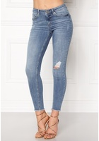 Pieces Five Delly Cropped Jeans Light Blue Denim L