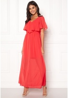 Vero Moda Dora Ss Long Dress Poppy Red M