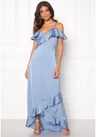 Y.a.s Fielle Off Shoulder Maxi Dress Delia Robbia Blue M