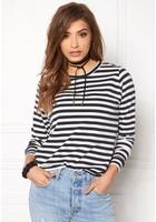 Jacqueline De Yong Lexus L/s Stripe Sweat Cloud Dancer 1 Xs