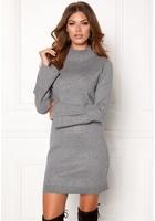 Object Objcarin L/s Knit Dress Medium Grey Melange M
